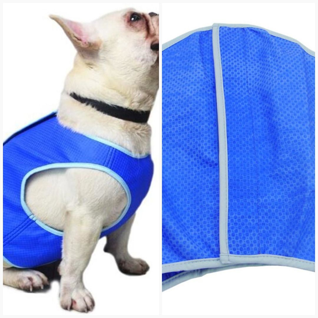 Pet Cooling Jacket Dog Ice Cooling Harness Pet Mesh Vest With