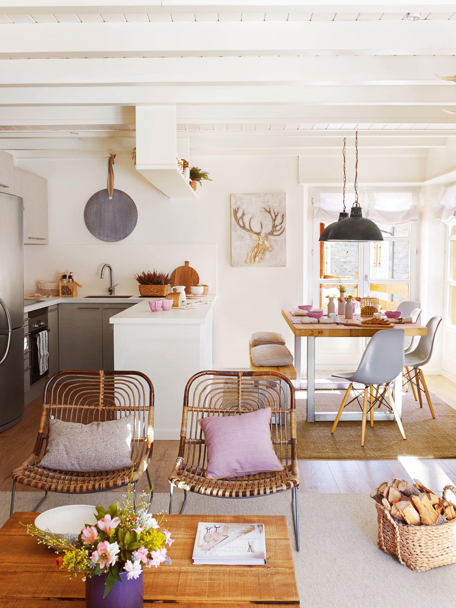 Abierta al sal n comedor cocinas y ba os decoraci n de for Decoracion cocinas comedor pequenas