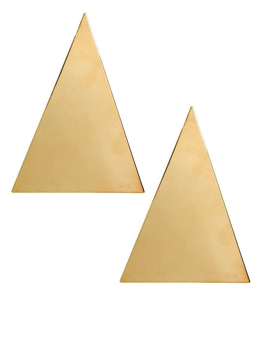 ASOS Gold Triangle Earrings