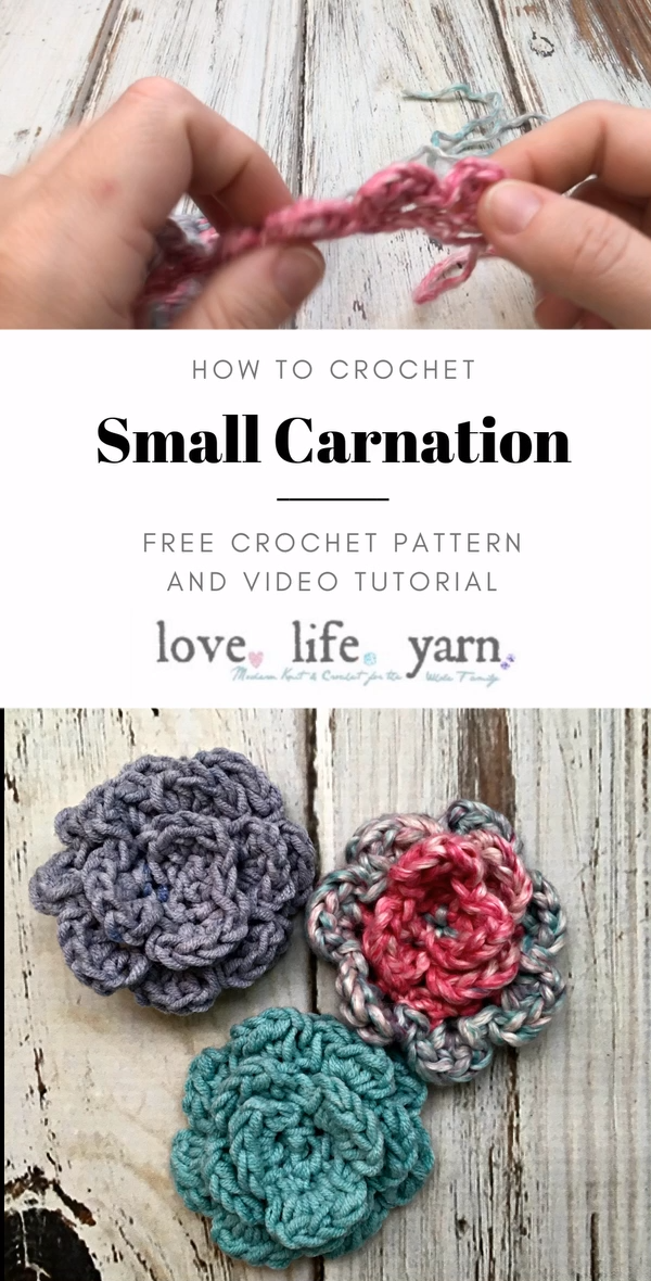 How to Crochet a Small Carnation – Crochet