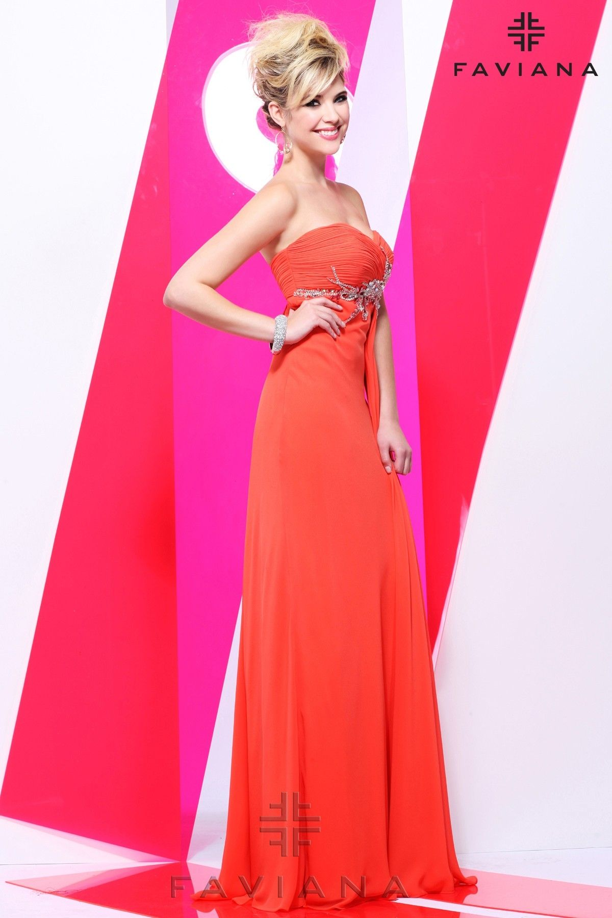 Style is a designer gown from the ashley benson collection