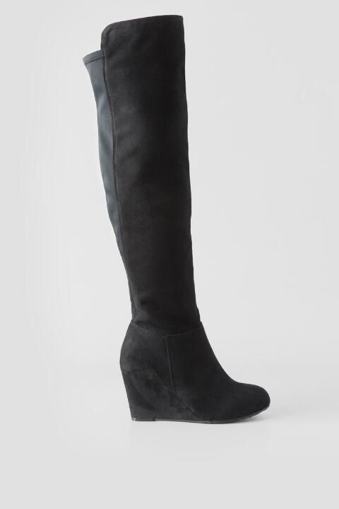 Blk Clright With Images Over The Knee Boots Wedge Boot Boots