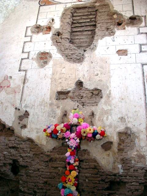 Tumacacori Mission, where altar stood at one time