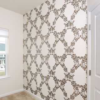 Stencil Designs And Pretty Pattern For A Colorful Room Makeover That 39 S Cheaper Than Wallpaper Wall Stencils Damask Wall Stencils Stencils Wall Damask Wall