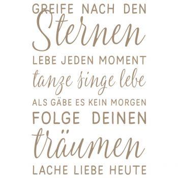 Mundart Stempel   Greife nach den Sternen | Deutsche Zitate