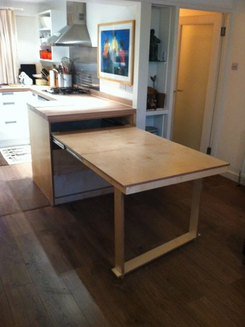 Pull Out Table Uk Based Carpenter Tucks Kitchen