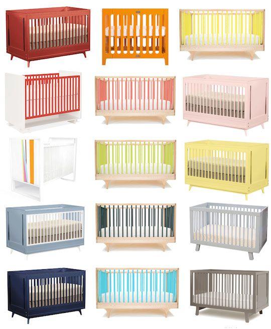 Cribs in Every Color of the Rainbow | Bebe, Bebé y Cuarto bebe