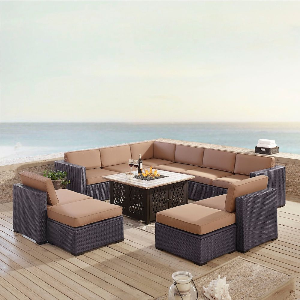 Marvelous Crosley Furniture Biscayne Patio Wicker Loveseat Chair Alphanode Cool Chair Designs And Ideas Alphanodeonline