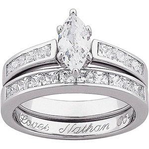 Jewelry   Bed room ideas   Engraved wedding rings, Walmart ...