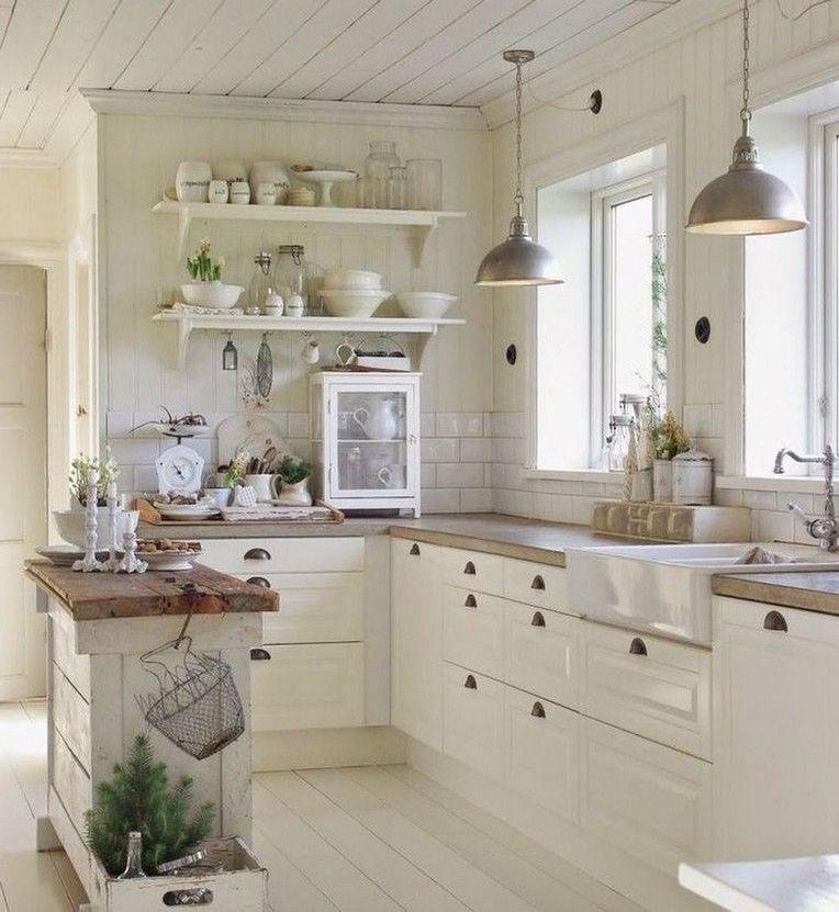 45 stylish country style kitchen decor ideas small