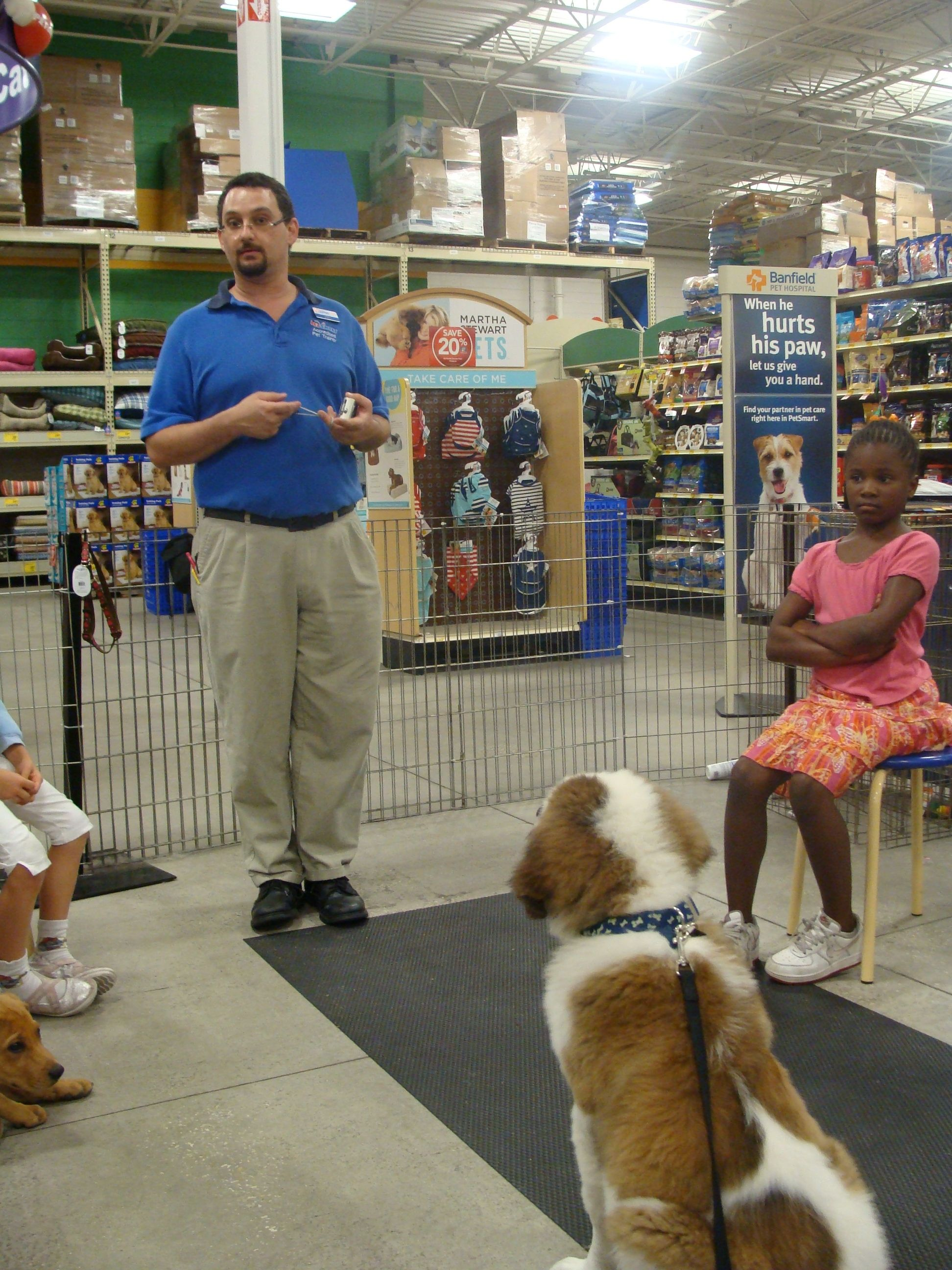 Paying Close Attention To My Teacher In Puppy Training Class At