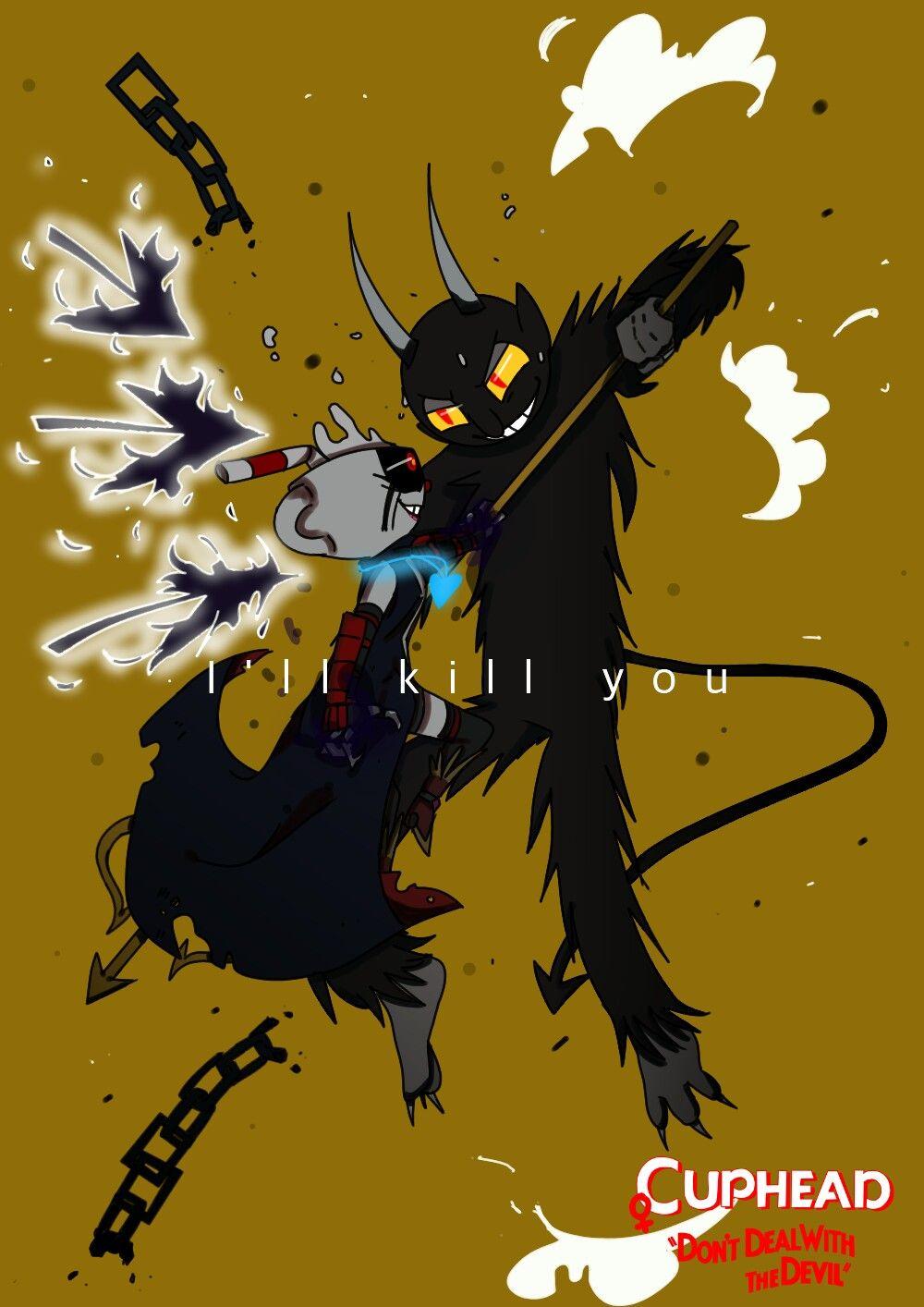 Femalecuphead Darkangel Vs The Devil Femalecuphead