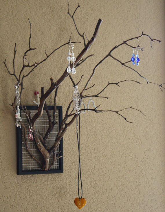 Manzanita Branch Jewelry Holder by ChelseaPlateDesigns on Etsy, $29.00