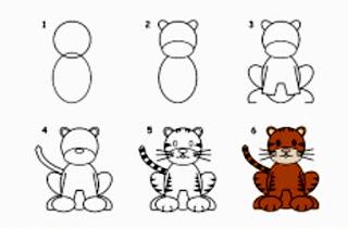 تعليم الرسم للاطفال المبتدئين رسومات نمر وفهد Artwork Art Comics