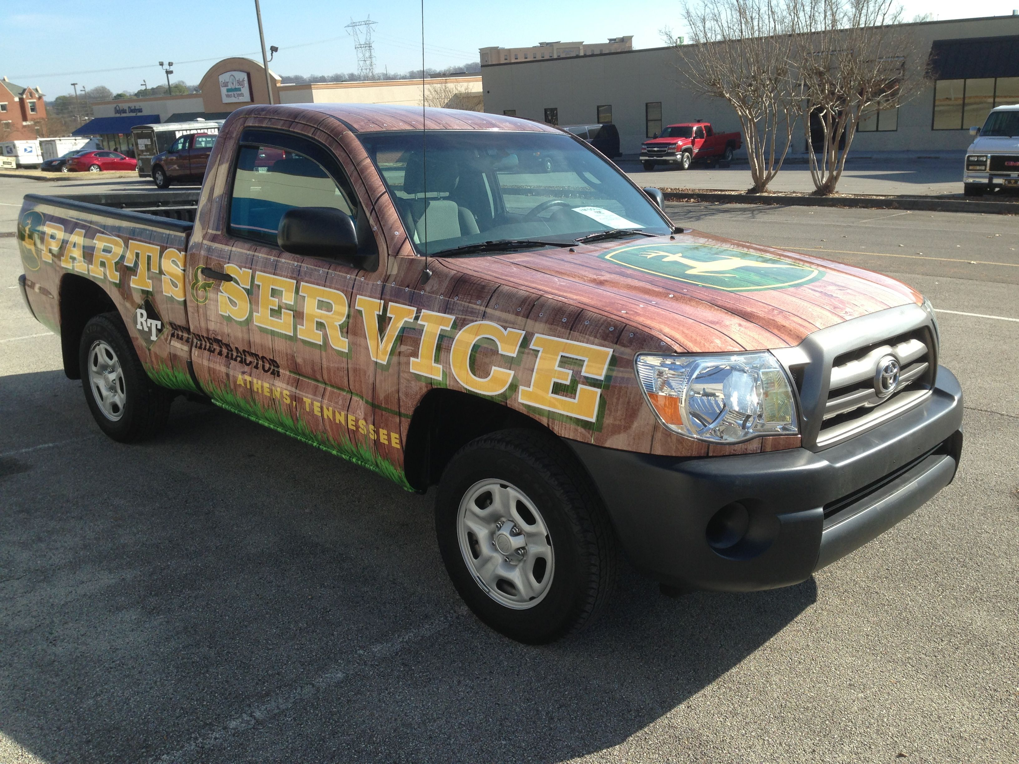 Ritchie Tractor Toyota Truck Wrap - Knoxville, TN #vehiclegraphics #vehiclewraps