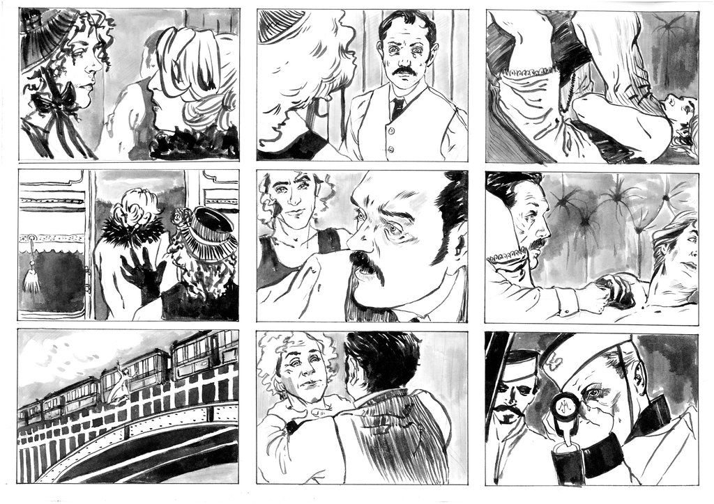 Sherlock Holmes Storyboard  Google Search  Art Storyboarding