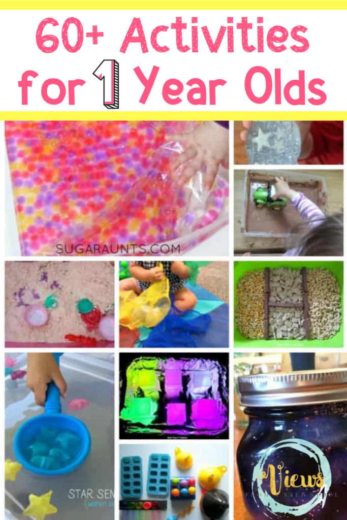 Looking for activities for 1 year olds? You can find TONS of activities for toddlers and preschoolers to do from fun sensory play to fantastic busy bags. The only problem is that a lot of this awesomeness is not geared for one year olds. #kidsactivities #sensoryplay #kidscrafts #oneyearolds #toddlers