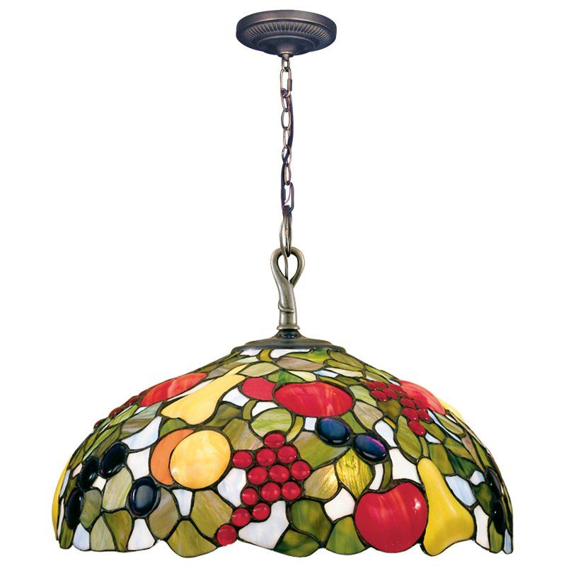Dale Tiffany Fruit With Jewels Hanging Light   16W In.   7362/1LTA