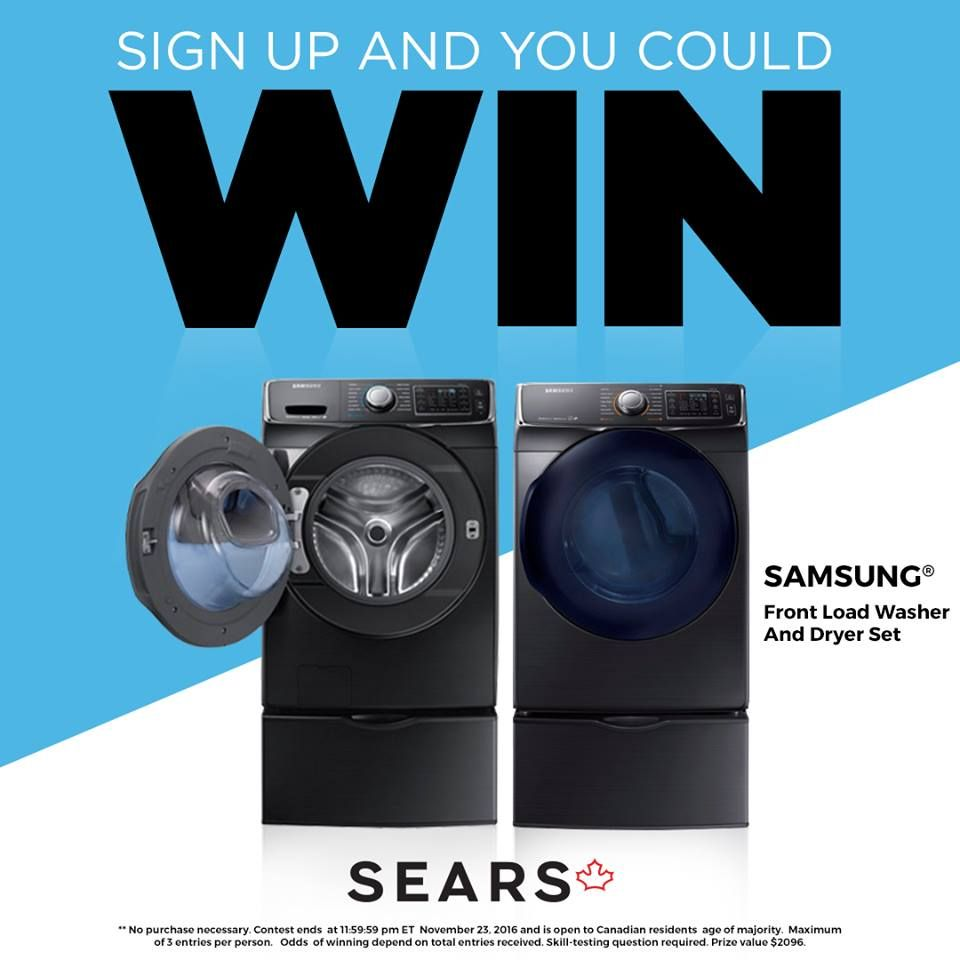 Sears Washer And Dryer Canada Win Great Prizes From Sears Canada Enter Here Sears Enter Here