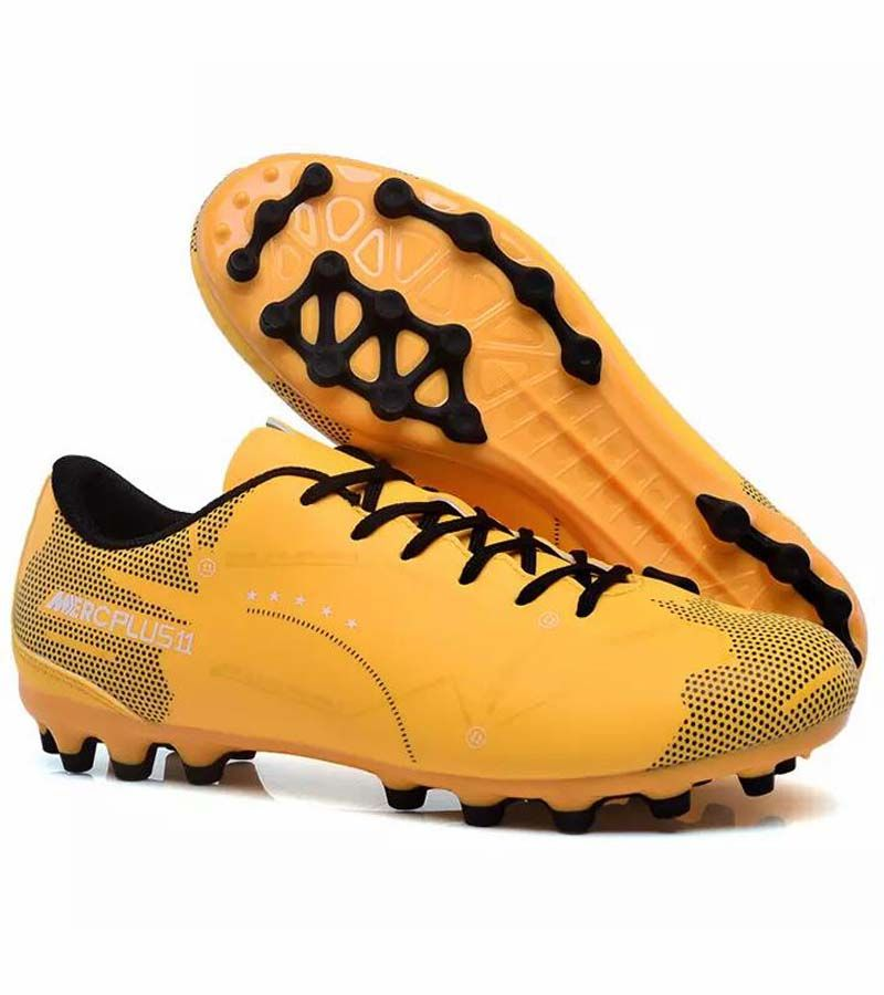 Yellow Label Text Pattern Print Soccer Shoe Soccer Shoes Soccer Shoe Soccer