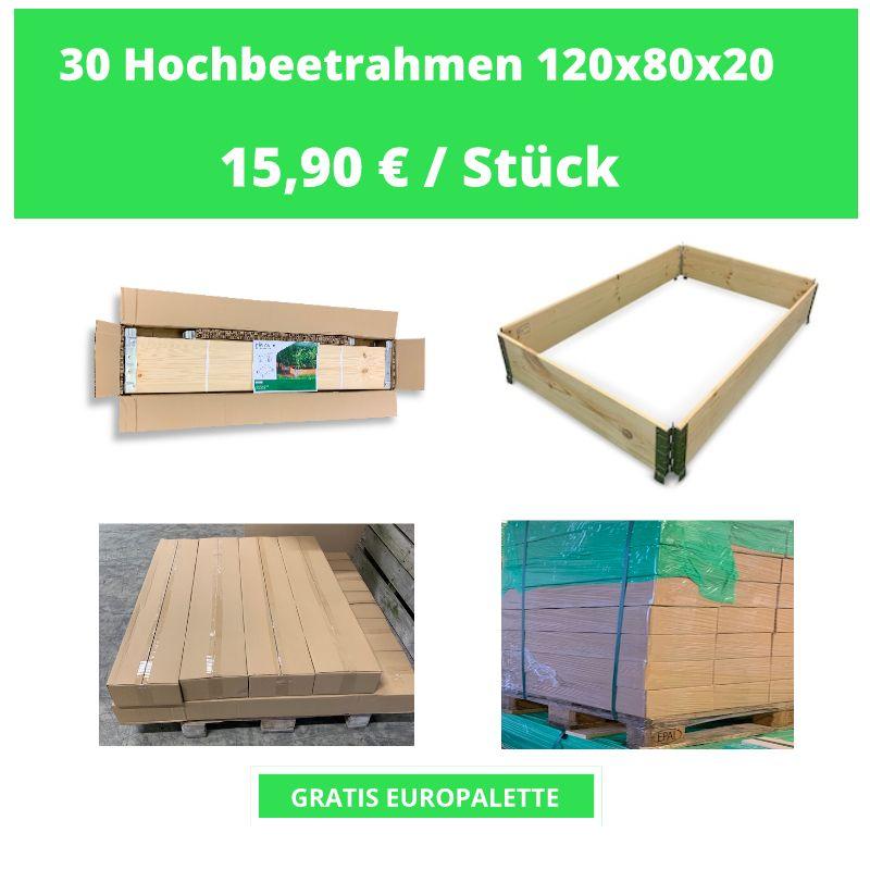 30 Hochbeetrahmen 120 X 80 X 20 Cm In 2020 Hochbeet Europalette Industrie Und Handelskammer