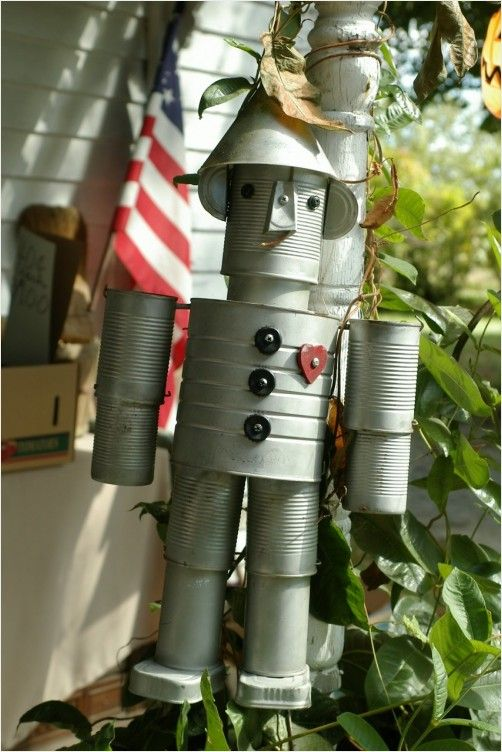 The Tin Man, kind of a fun garden accessory, I love the wizard of Oz...