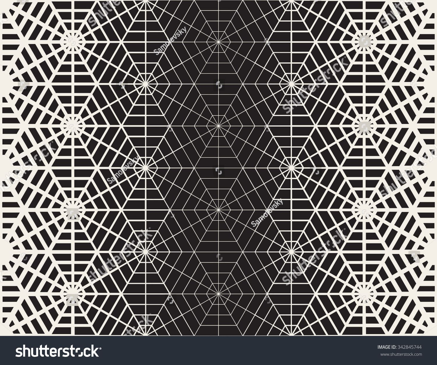 Vector Seamless Black And White Geometric Line Grid Spiderweb Shape Pattern Abstract Background Pattern Tattoo Geometric Tattoo Design Geometric Tattoo
