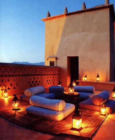 Terraza De Estilo Marroquí Iluminación Terrazas Terrazas