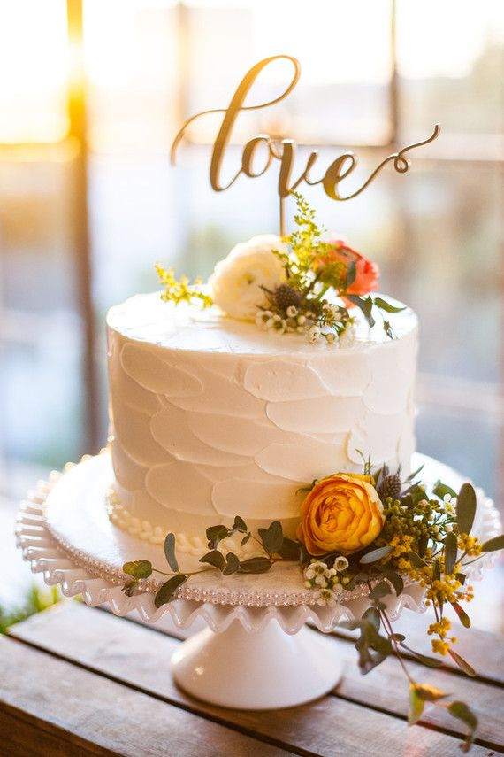 Love cake topper … | Wedding anniversary cakes, 25th ...