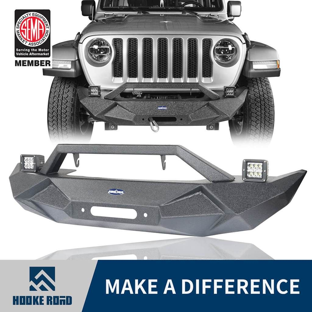Hooke Road Blade Master Front Bumper W Winch Plate License Plate Holder 2020 Jeep Gladiator Jeep Gladiator Jeep Bumper Weights