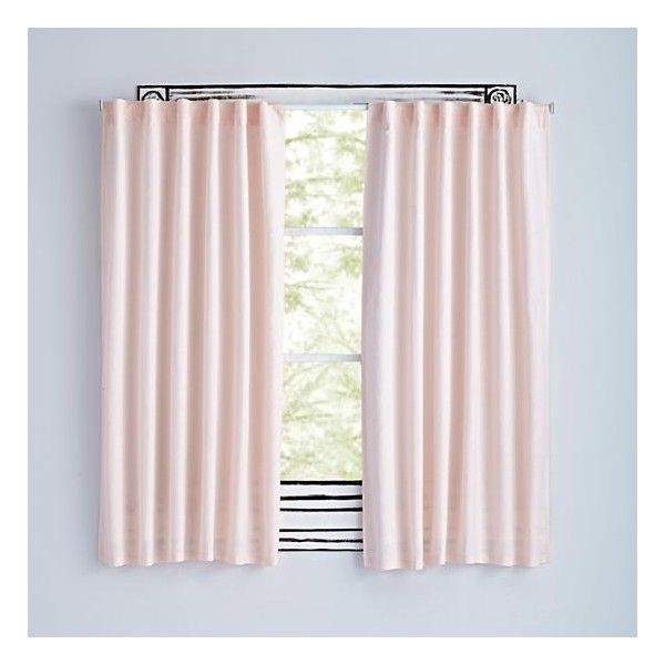 63 Light Pink Fresh Linen Curtain 514 995 Idr Liked On Polyvore Featuring Home Decor Window Treatments Curtains Pale Soft