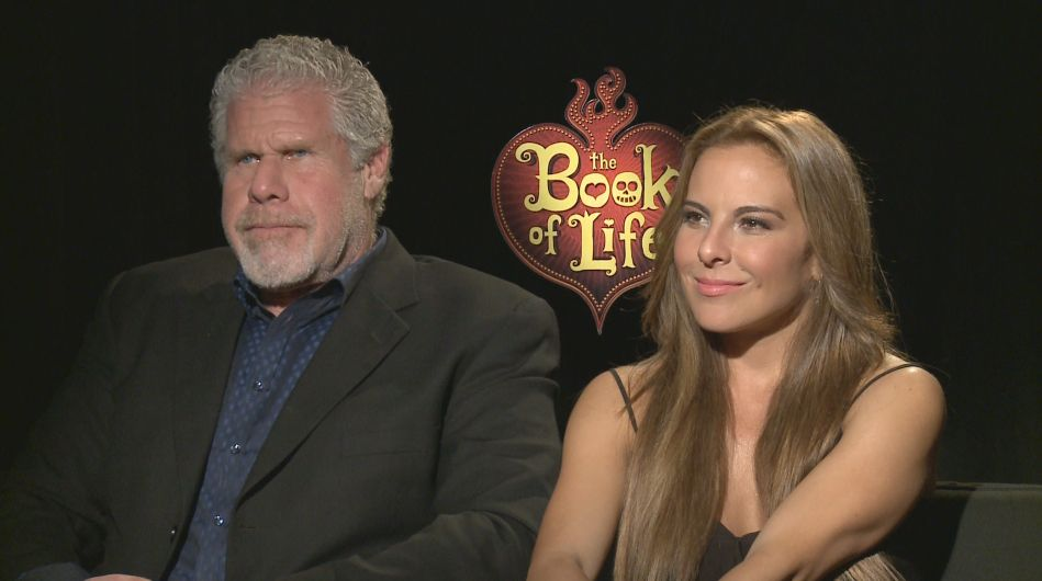 The Book Of Life Interview Ron Perlman And Katie Del Castillo Ron Perlman Kate Del Castillo Book Of Life