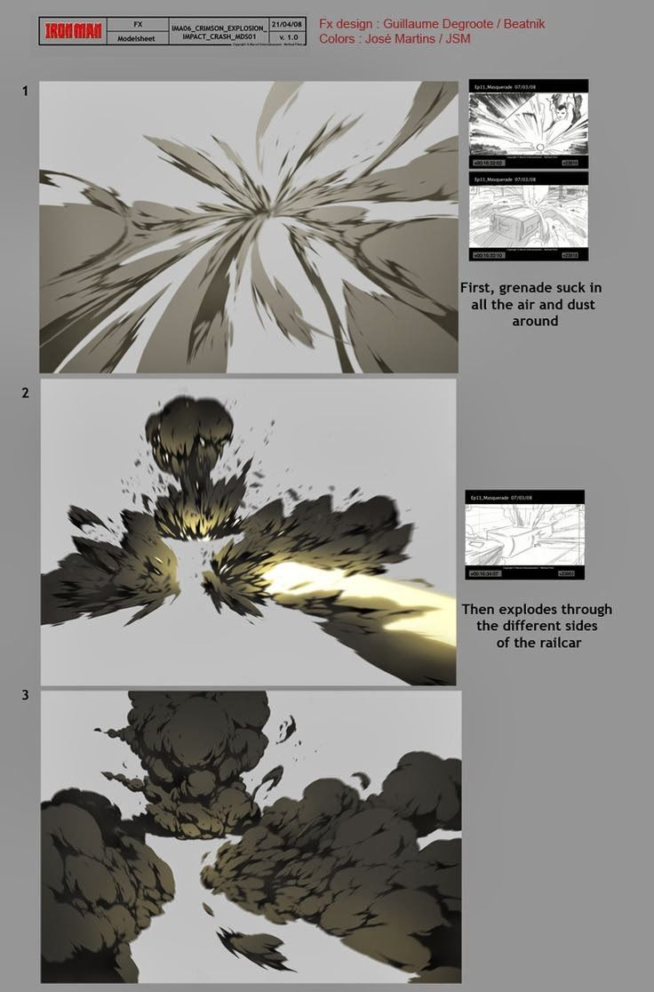 Flash FX Animation FX Designs from 'Iron Man' The Animated Series by Guillaume Degroote is part of Digital painting tutorials -