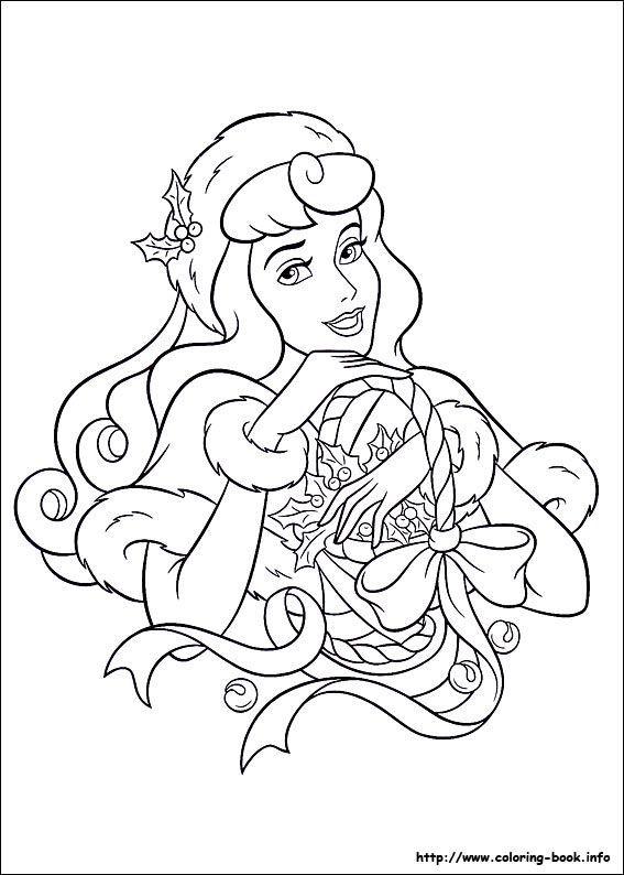 photo de coloriage de nol amis 1594 - Coloriages Princesses Disney 2