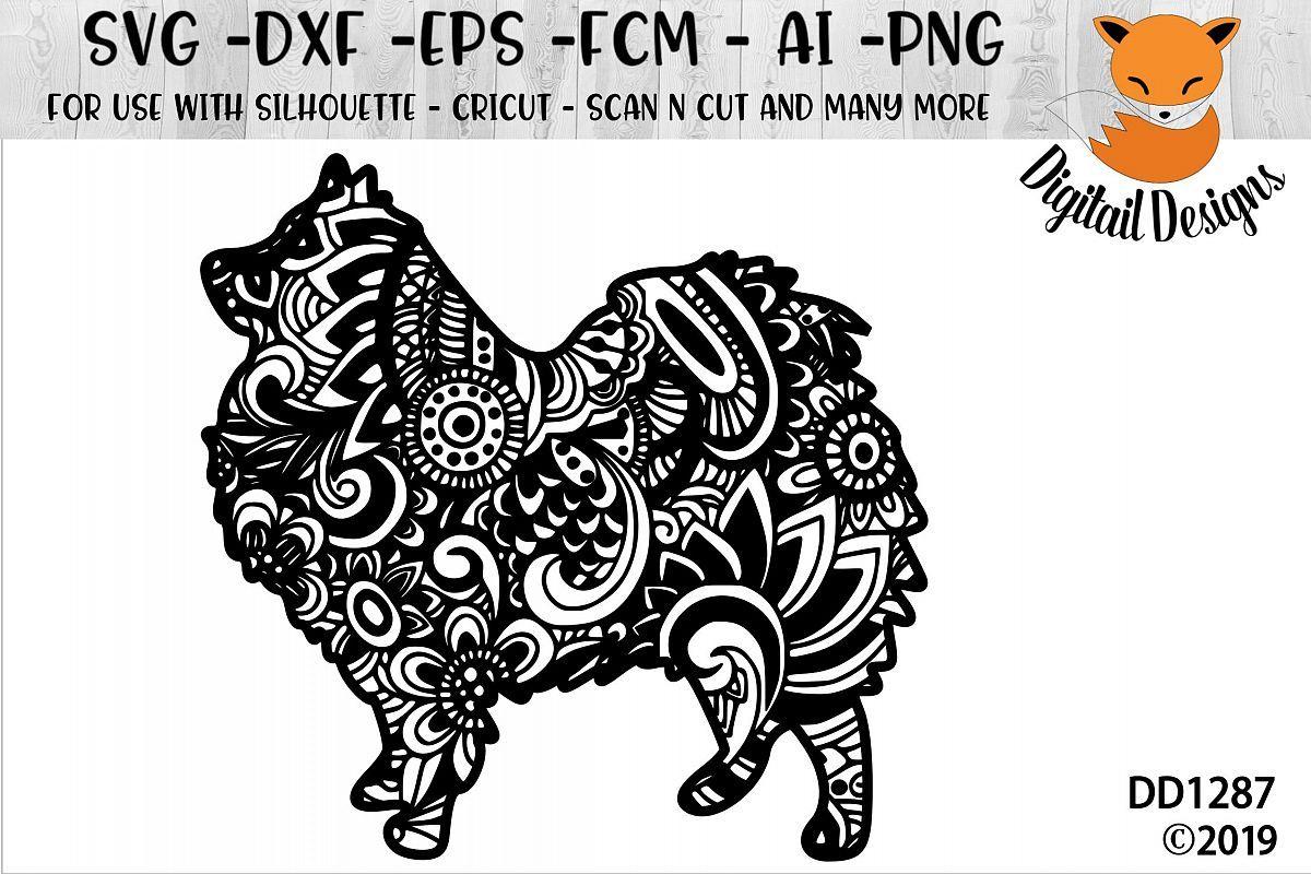 Pomeranian SVG File Zentangle Pomeranian SVG Cut File