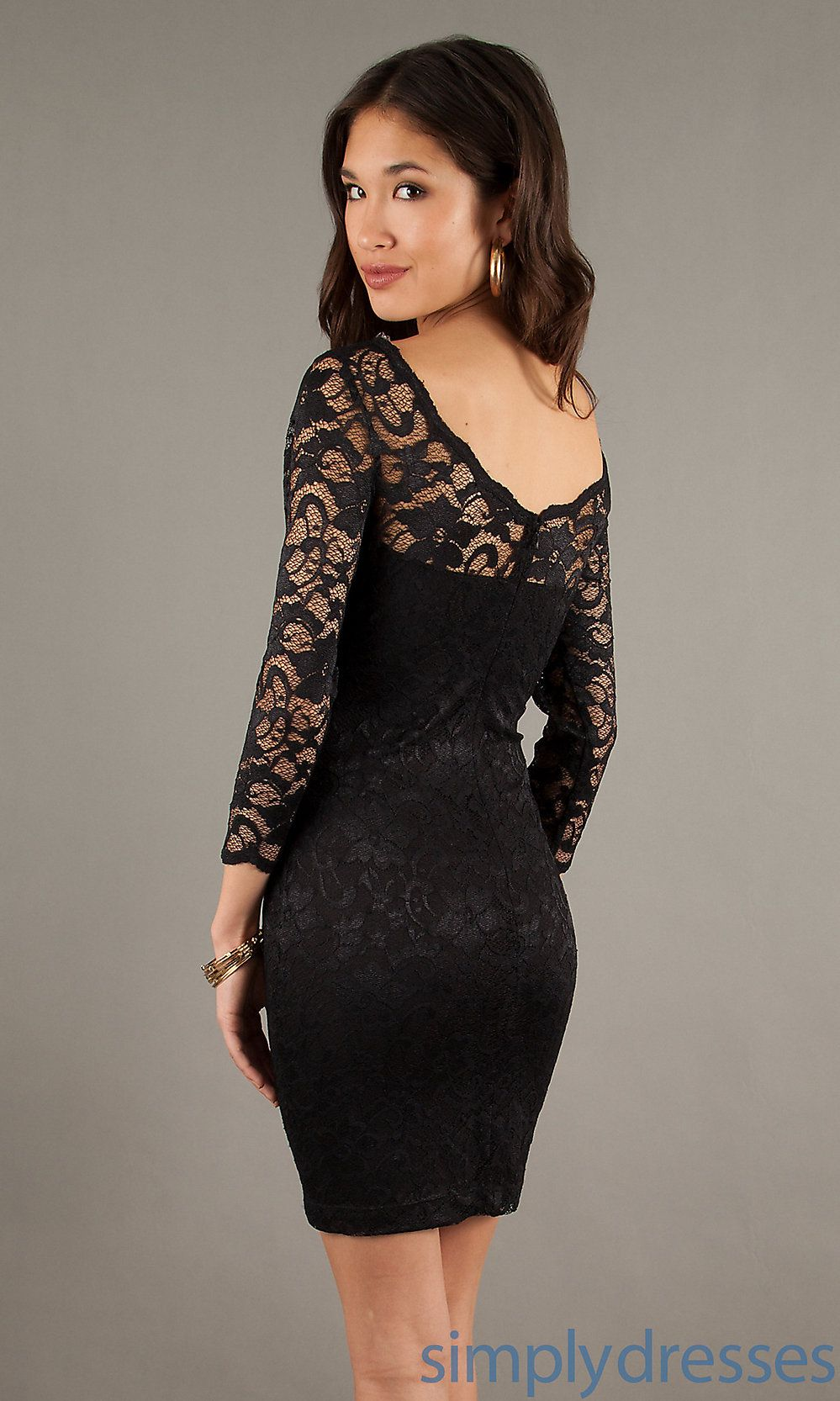 Dress, Long Sleeve Little Black Lace Dress | Stylin' attire ...