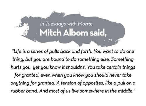 Mitch Albom Quote, # Tuesdays With Morrie, One Of My Fav