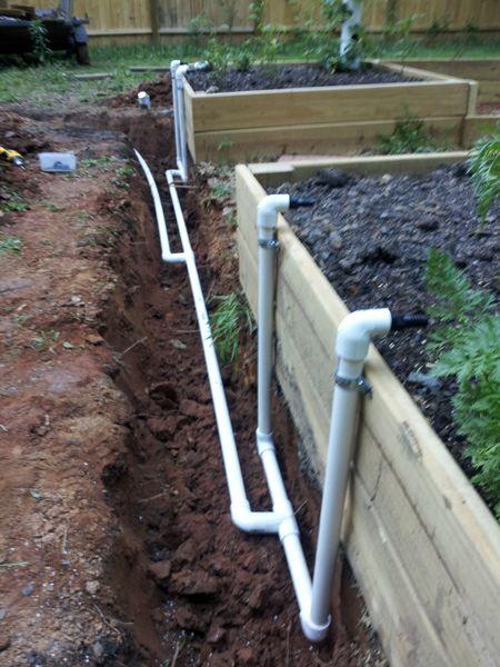 The Davis Farm | In-Ground Equal Pressure Raised Bed Garden Automatic Irrigation System #diyraisedgardenbeds