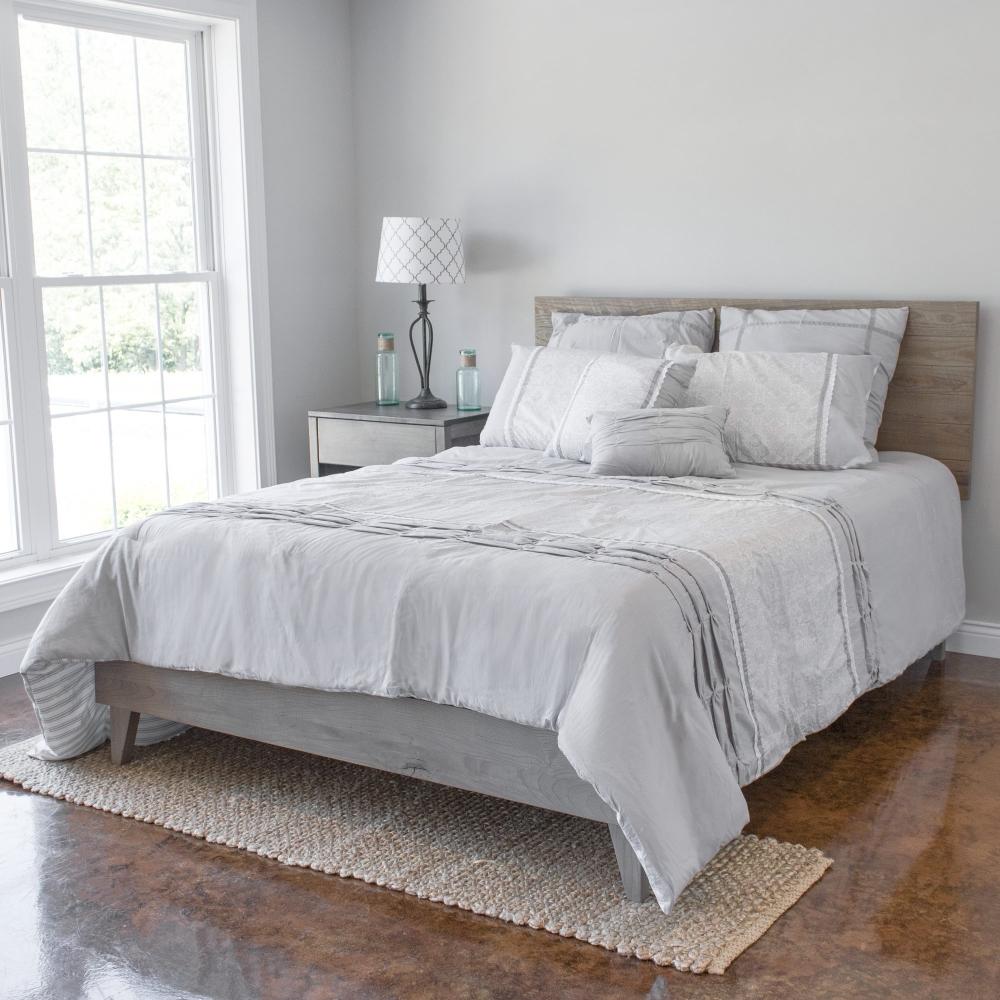 Kotter Home Grey/Brown Barnwood Headboard in 2020 Bed