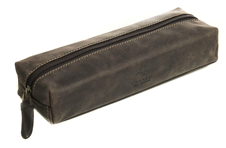 Visconti 731 Hunter Distressed Leather Pencil Case/ Small