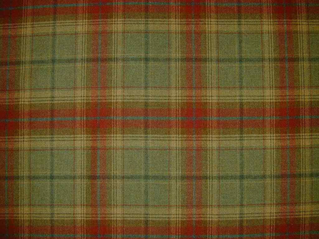 Red Plaid Fabric Red Green Check Wool Tartan Upholstery Fabric