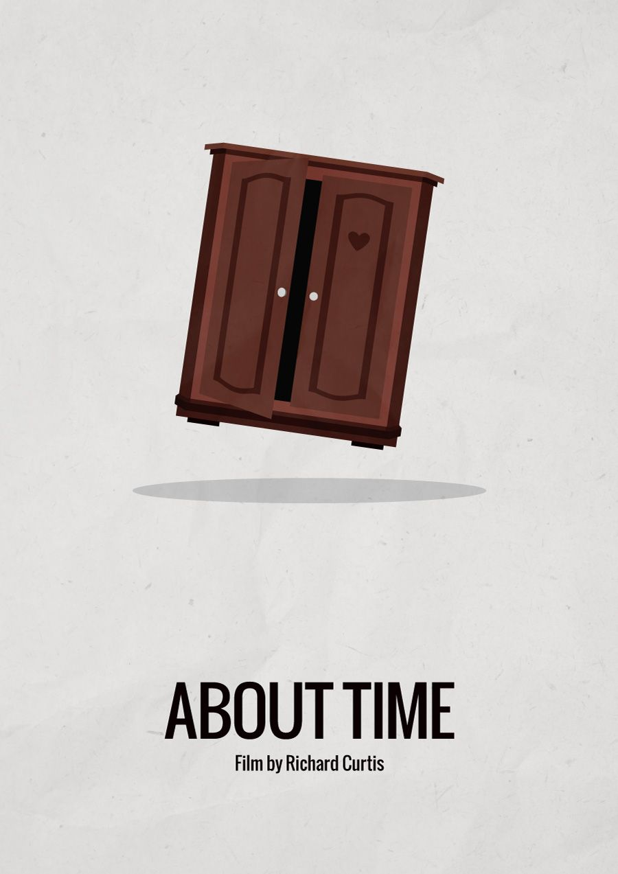 About Time (2013) - Minimalist movie posterFilm by Richard CurtisIMDB link #filmposterdesign