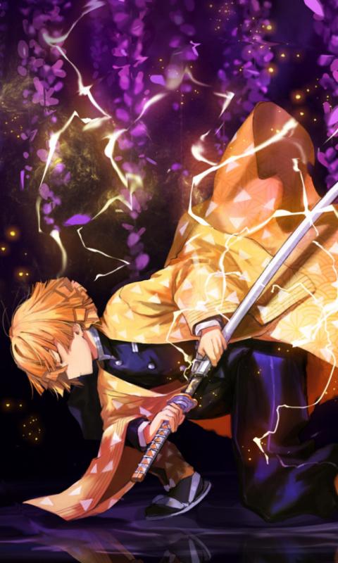 Anime Demon Slayer Kimetsu no Yaiba Zenitsu Agatsuma