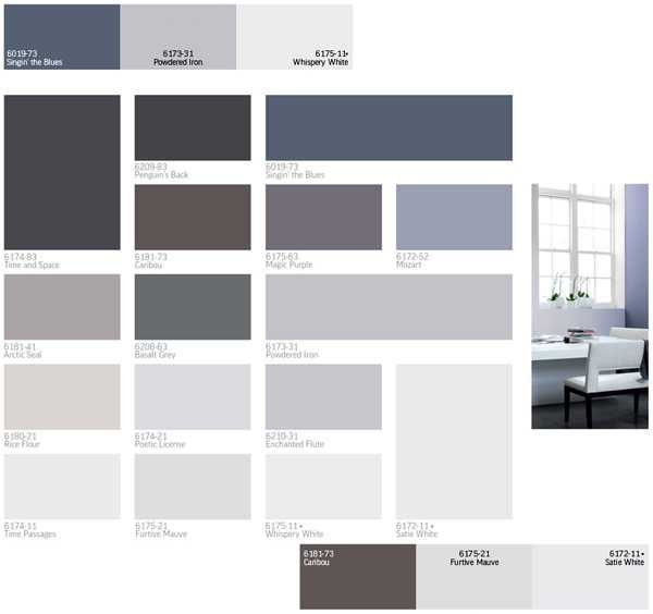 Modern interior paint colors and home decorating color Trending interior paint colors