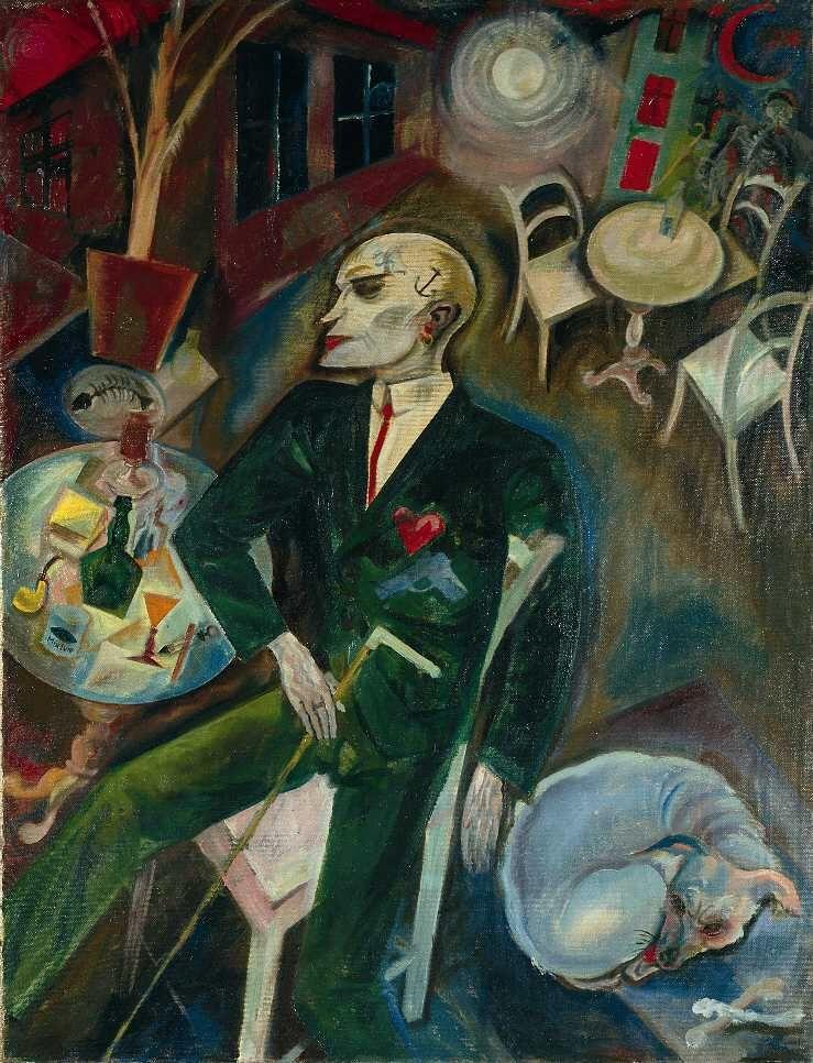 George Grosz Der Liebeskranke The Lovesick Man 1916 Oil On Canvas 100x77cm Kunstsammlung Nordrhein Westfale Kunstproduktion Entartete Kunst Idee Farbe
