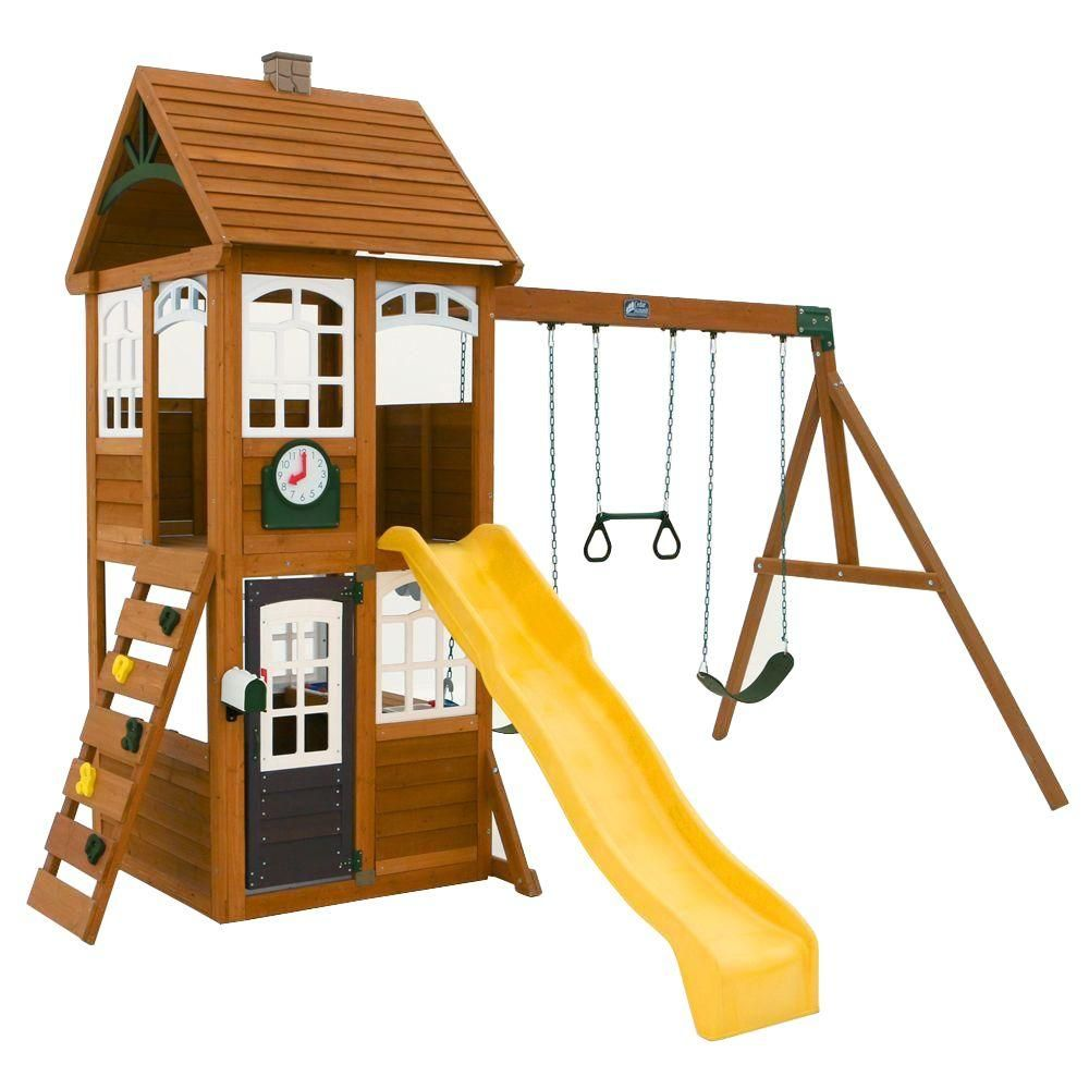 Cedar Summit McKinley Wooden Playset-F24950 - The Home Depot | Home ...