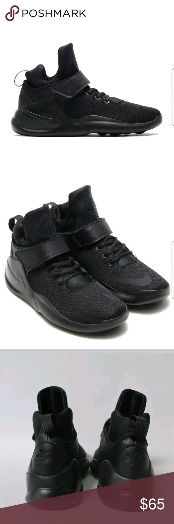 c5d432eff2af ... cheapest nike kwazi solid triple black 844839 001 new mens nike kwazi  sneakers trainers triple black