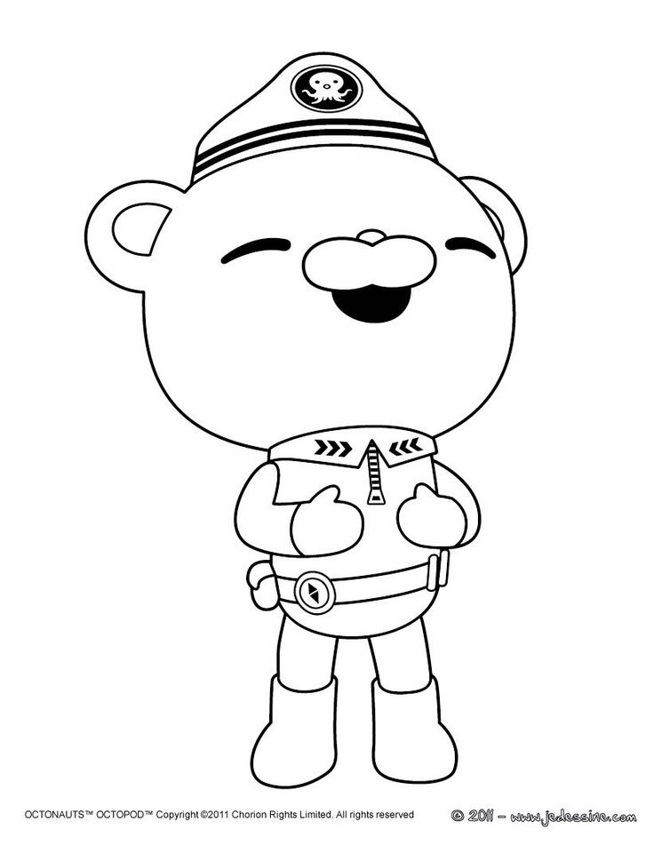 Kwazii And Captain Barnacles Of The Octonauts Coloring Page Malen