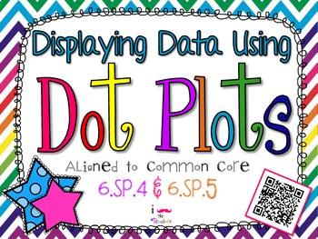 Displaying Data Using Dot Plots **QR CODE Task Cards