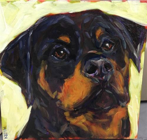 """Daily+Paintworks+-+""""Bear""""+-+Original+Fine+Art+for+Sale+-+©+Kandice+Keith"""